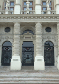 Justizpalast Haupteingang